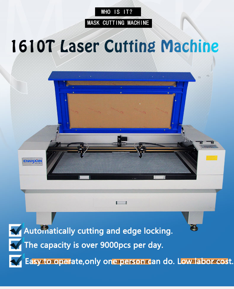 Face Mask/ Surgical Mask/ Medical Mask Fabric Co2 Laser Cutting Machine With Ce