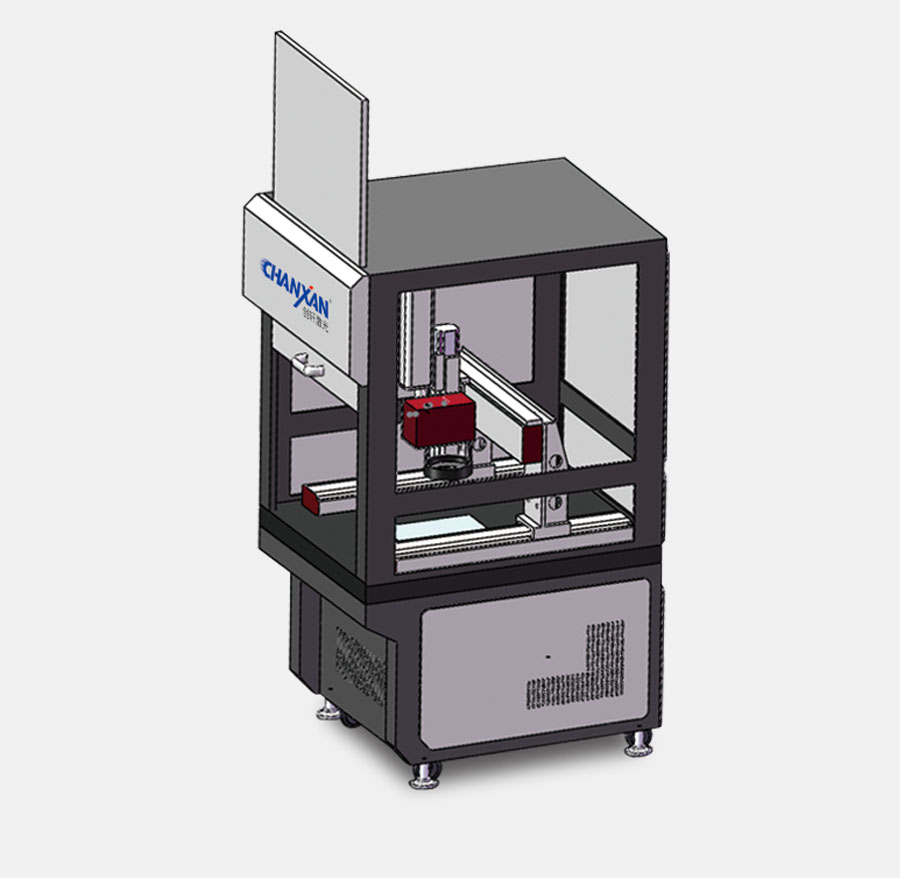 CCD Automatic Visual Positioning Fiber Laser Engraving Machine